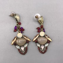 Vintage Post Dangle Pierced Earrings - $12.86