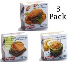 Pate With Shrimp Wild Salmon and Wild Smoked Salmon Gourmet Food Canadia... - $32.63