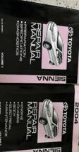 2004 Toyota Sienna Van Service Atelier Réparation Manuel Set - $345.63
