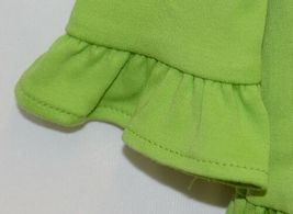 Blanks Boutique Lime Green Girls  Long Sleeve Cotton Ruffle Shirt Size 18M image 3