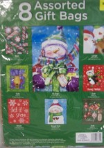 "8 NEW Assorted CHRISTMAS GIFT BAGS 4"" to 12"" tall - $12.38"