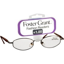 Foster Grant Brown Fashion Readers Eyeglasses +1.00 High Fashion Olive - $19.99