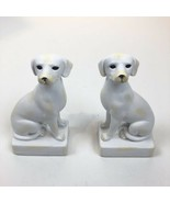 Pair of White Dog Bookends Whippet Greyhound - $34.64