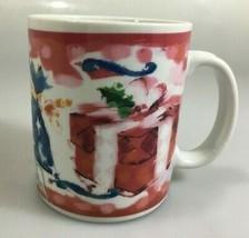 Starbucks Deborah Reinhart Christmas Holiday Presents Coffee Mug  - $30.33