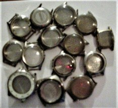 lot of 14 Vintage Wristwatch Case Cases Seiko & Others Parts or repair - $49.45