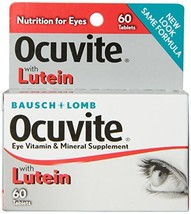 Bausch + Lomb Ocuvite Eye Vitamin and Mineral Supplement with Lutein, 60... - $10.70