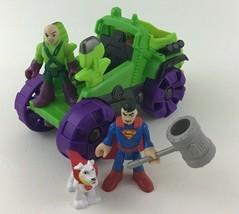 Imaginext Fisher Price DC Super Friends Lex Hauler Truck Superman Krypto... - $17.77