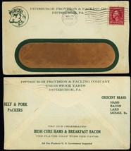 Pittsburgh Provision & Packing Co 1912 Advertising Cover - Stuart Katz - $40.00