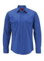 Men's Pearl Snap Button Long Sleeve Western Slim Fit Cowboy Shirt w/ Defect image 2