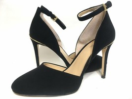 Michael Kors Suede Ankle Strap Pumps Black Size 36.5 - $94.05