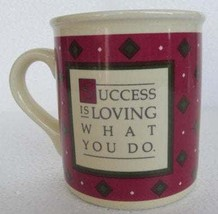 "1985  Hallmark ""Success Is Doing What You Love"" Collectible Ceramic Coff... - $13.99"