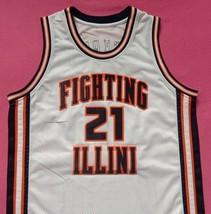Kofi Cockburn Fighting Illinois White College Jersey Any Size Free Wwjd Bracelet - $29.99