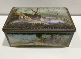 "Vintage Wilkin's Cremona and Red Boy Toffees metal rectangle Tin Box 8"" ... - $16.80"