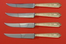 """Mary II by Lunt Sterling Silver Steak Knife Set 4pc HHWS  Custom Made 8 1/2"""" - $247.10"""