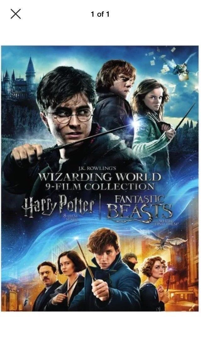 J.K. Rowlings Wizarding World 9-Film Collections [DVD Set New] Harry Potter
