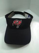 NFL Equipment Visor Hat Tampa Buccaneers One Size Black Reebok Adjustabl... - $14.31