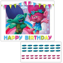 Trolls Movie Pin the Nose on Poppy and Creek Birthday Party Game - £15.49 GBP