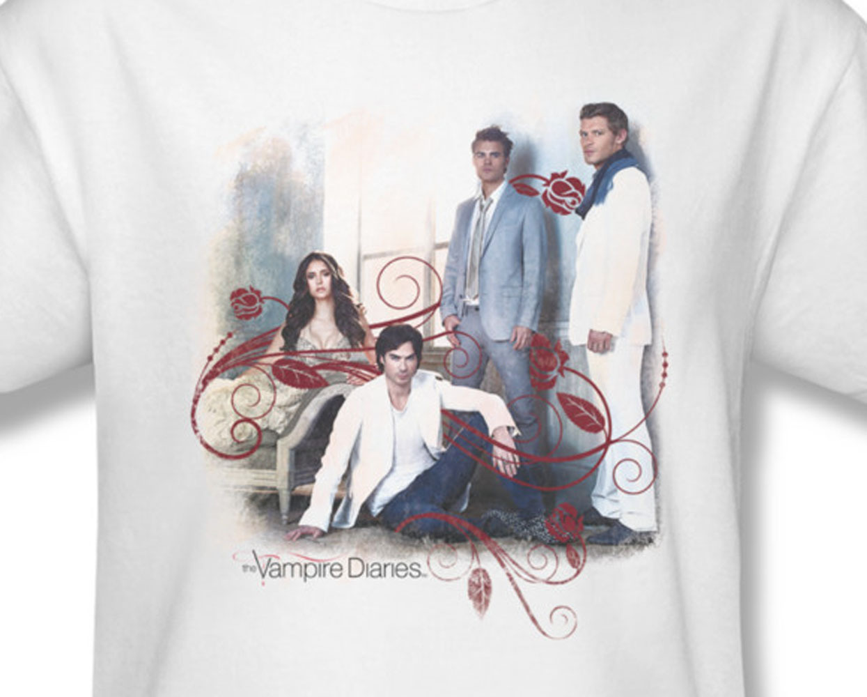 The vampire diaries supernatural drama nina dobrev for sale online graphic white tee wbt259 at