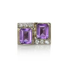 14K White Gold Vintage Amethyst & Diamond Ring, .45tdw, 14.6g - $895.00