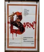 "Original Burn 1970 movie poster Marlon Brando 27"" x 41"" - $58.84"