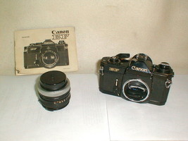 Vintage canon EF 35mm camera japan works military used ser 254912 w 50mm... - $175.00