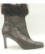 Karen Scott Alaska Women Square Toe Ankle Booties Size US 8N Brown Leather - $17.94