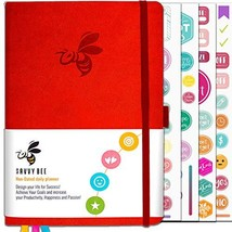 Savvy Bee Planner - Best Daily Journal and Organizer for (Red Passion) - $29.82