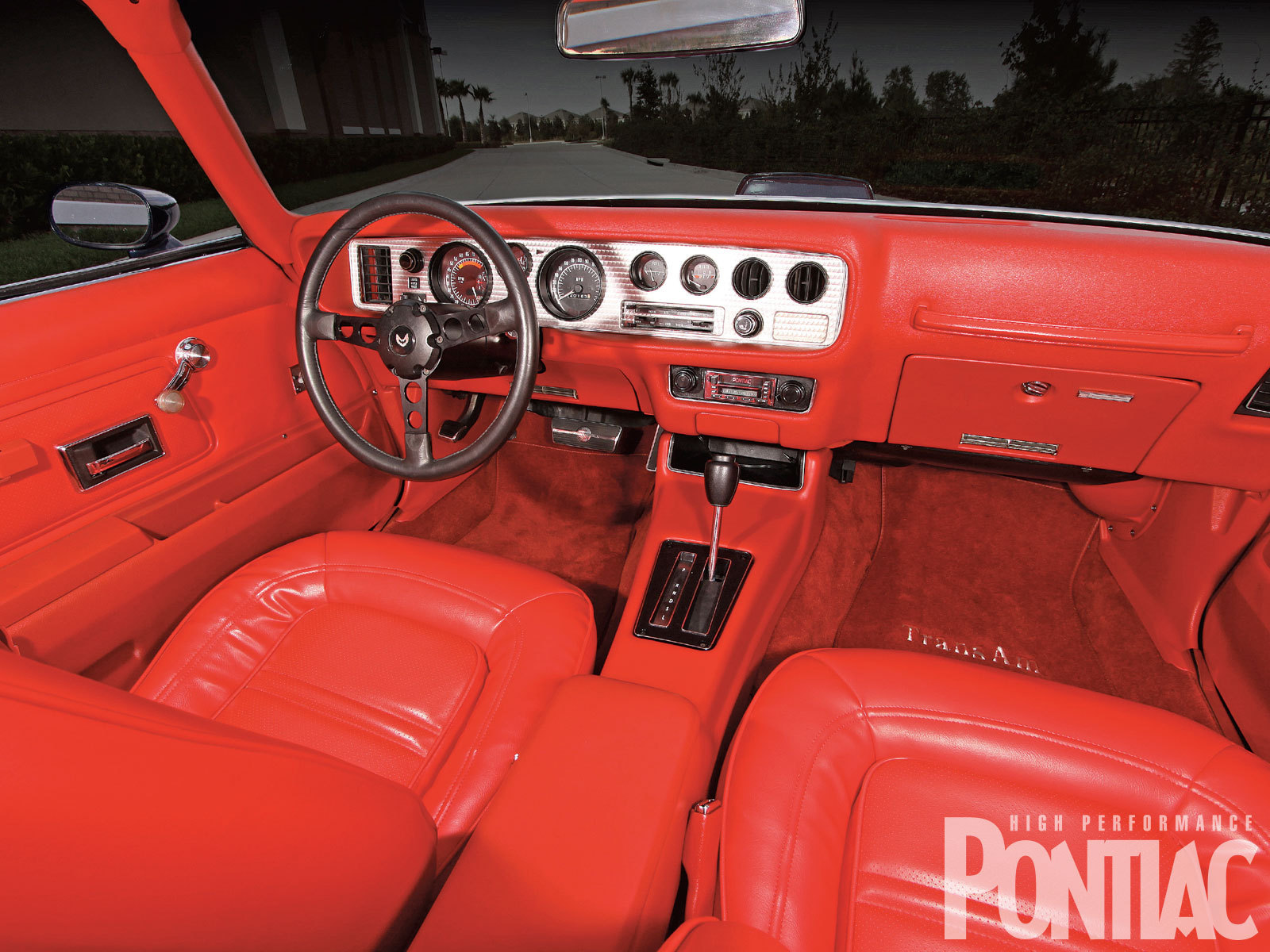 Primary image for 1974 pontiac trans am interior red | 24 X 36 inch poster