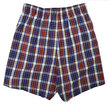 "Gap Mens Red And Blue White Plaid 4"" Boxers 1 Pc Set Sz Large L 8474-3 - $10.93"