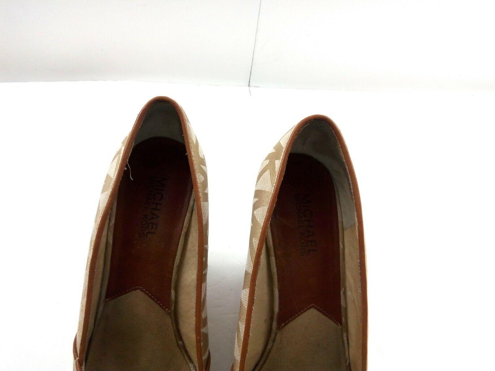 MICHAEL KORS Womens Wedges 7.5 Tan Cabana Peep Toe Platform Espadrilles $144 image 9