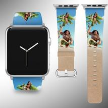 Moana Disney Apple Watch Band 38 40 42 44 mm Fabric Leather Strap 01 - $24.97