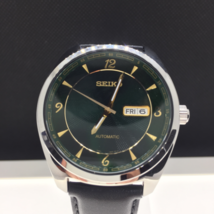 Seiko Recraft Mens Automatic Green Dial Leather Strap Watch SNKN69 - $258.97 CAD