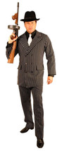 Charades Gangster Truand Rayé Costume Hommes Grande Taille Halloween 52162 - $50.52