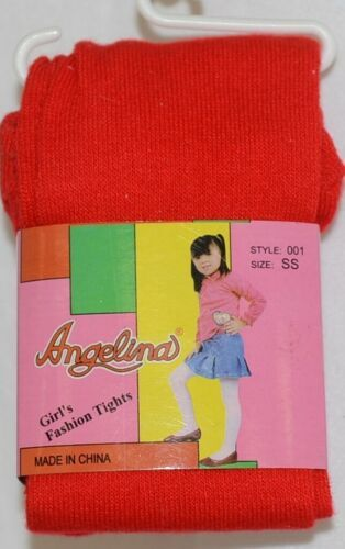 Angelina Girl's Fashion Tights Size SS Style 001 Red Color