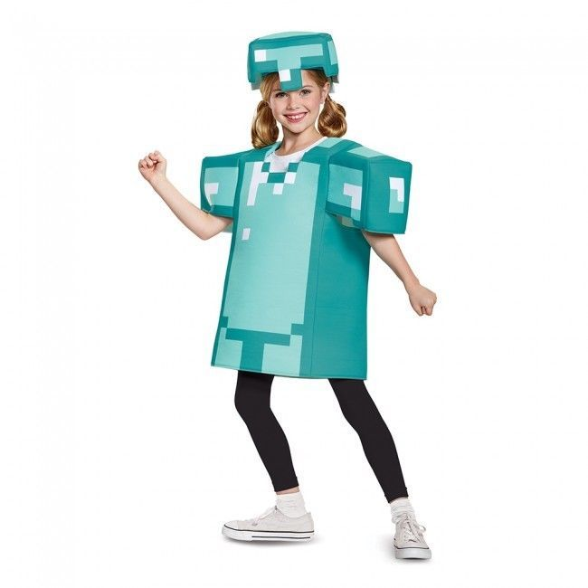 Disguise Mojang Minecraft Armor Classic Child Unisex Halloween Costume 65645