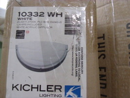 Kichler Lighting 10332WH Fluorescent Sconce, White Finish Energy star - $46.55