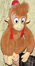 "Aladdin Abu Vintage Original 1992 Disney 18"" Plush Monkey Mattel Vest & ... - $15.97"