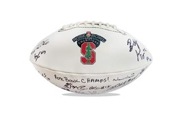 2015 Stanford Cardinal team signed football w/Certificate autographed (43) - $203.94