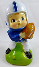 VINTAGE HARD PLASTIC FOOTBALL PLAYER BANK MADE IN HONG KONG Pee Wee player - $8.90