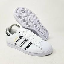 Adidas Femmes Superstar Blanc Léopard Animal Imprimé Noir FV3452 US 7.5 /UK 6 - $101.73