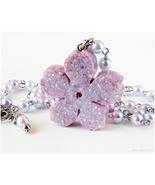 Sakura Necklace, Pastel Kei, Flower Jewelry, Japan, Resin Jewelry, Handmade - $22.00