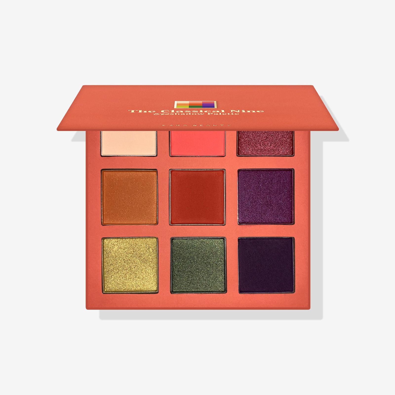 The classical nine  eyeshadow palette
