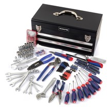 229-Piece Mechanics Tool Kit with Two Drawer Metal Box Basic Daily Use T... - $177.17