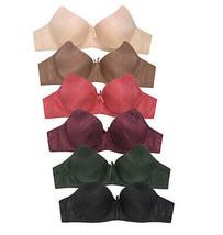 ET TU Women's Premium Animal Stripe Jacquard Full Coverage Bra Pack of 6 - 38C image 2