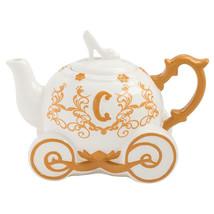 Walt Disney Cinderella Carriage Sculpted Ceramic Teapot Unused Gift Boxed - $47.40