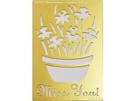 Paula Hallian Metal Embossing Plate, Flower in Pot #XDAH-276
