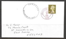 2000 Paquebot Cover, British stamp used in Anacortes, Washington (Jan 27) - $5.00