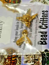 VINTAGE BUNNY BEAD CRITTERS BEAD WRAP BY PENNY MICHELLE 1995 GOLDTONE image 2