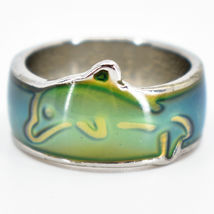 Cute Jumping Dolphin Children's Color Changing Fashion Mood Ring image 4