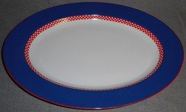 Fitz & Floyd CHEQUERS PLUS PATTERN Large Oval Serving Platter JAPAN - $29.69